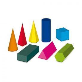 Solidi geometrici plastificati da costruire