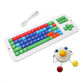 Kit disabili tastiera + mouse trackball