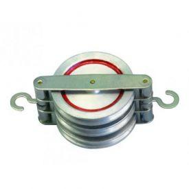 Terna di carrucole in parallelo in alluminio Ø 50 mm