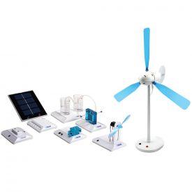 Kit completo energie rinnovabili per l'educazione - 5 sistemi diversi
