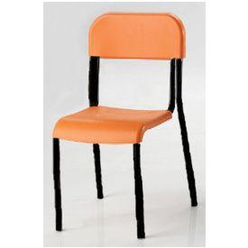 Sedia alunni in polipropilene h 38 cm - ARANCIO - telaio Nero