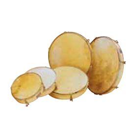 Tamburello regolabile 40,5 cm pelle senza piattelli