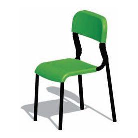 Sedia alunni in polipropilene h 38 cm - VERDE - telaio Nero