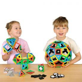 Polydron Magnetici - Set per la classe (184 pezzi)