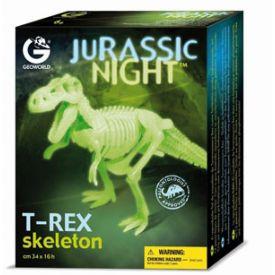 Geoworld CL141K - Jurassic Night T-Rex Scheletro