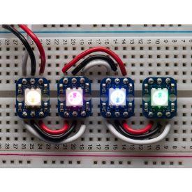 Breadboard-friendly RGB Smart NeoPixel Pack of 4