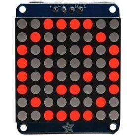 """Matrice LED rossi 8x8 con basetta I2C da 1.2"""""""