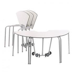 6 tavoli componibili da 60° con ruote per arredi scolastici mobili cm 72H