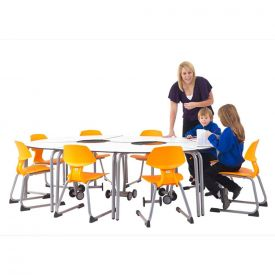 8 tavoli componibili con ruote per arredi scolastici mobili 72 H