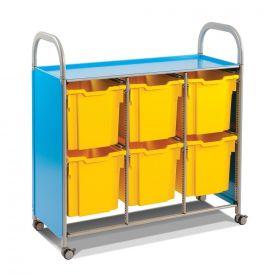 Carrello mobile - 6 vassoi Jumbo - azzurro