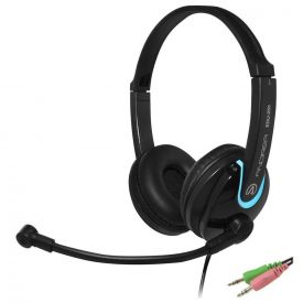 Cuffie con microfono EDU-255 on-ear stereo con 2 jack da 3,5 mm per PC