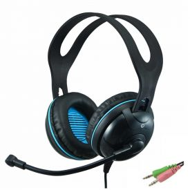 Cuffie con microfono EDU-455 over-ear stereo con 2 jack da 3,5 mm per PC