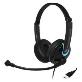 Cuffie con microfono EDU-255 on-ear stereo USB