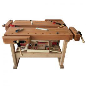 Banco da lavoro in legno per 4 alunni - 85h