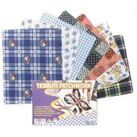Tessuti patchwork assortiti - 7 pezzi 25x20 cm