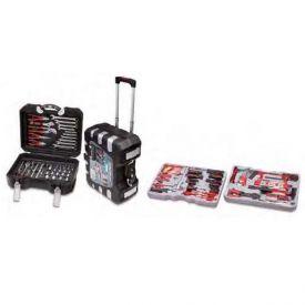 Trolley con utensili e accessori per meccanica