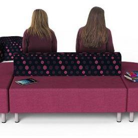 Seduta morbida doppia con schienale - Zioxi Park PAR2FB (144x68x74h)