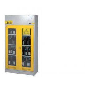 Armadio di sicurezza aspirato acidi e basi con vetro