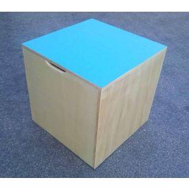 Cubo propriocettivo misura 50x50x50 cm., in legno