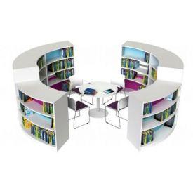 Libreria BookWorm Mini - Modulo curvo 118h cm