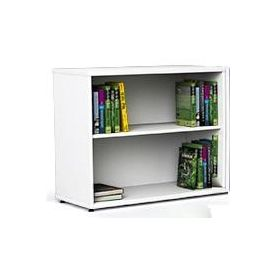 Armadietto doppio porta libri senza ante Reading Nook 90x45x76H cm