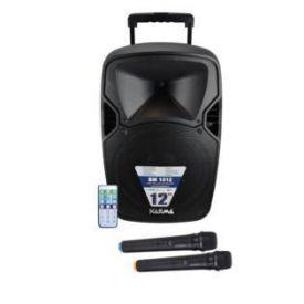 Diffusore amplificato portatile da 120w con 2 radiomicrofoni