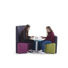 Seduta morbida Zioxi S41 Hug Seating 90° con schienale alto (110x42x113h cm)