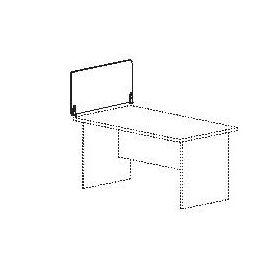 Divisorio in melaminico in appoggio su scrivania 80x42 cm