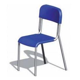 Sedia alunni in polipropilene h 46 cm - Colorata - telaio cromato