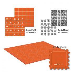 Set base tappeto CodyRoby con tasselli QR Code
