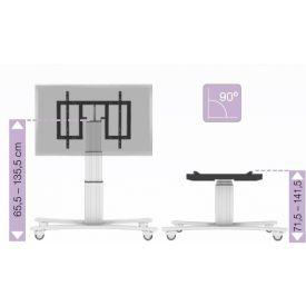 """Carrello tavolo regolabile elettricamente per Monitor Touch da 42"""" a 75"""" - Argento"""