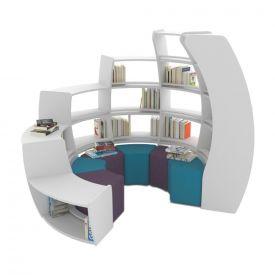 Libreria a spirale BookHive - Senso antiorario