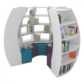 Libreria a spirale BookHive - 3/4 di cerchio