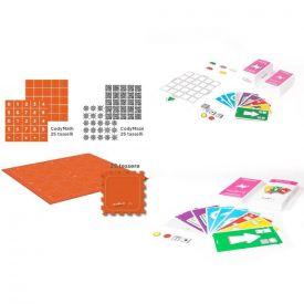 CodyRoby - Set completo per la scuola con carte da tavolo, carte giganti e tappeto