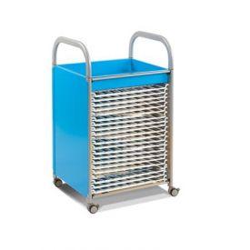 Carrello Porta disegni - Art Trolley Blu con 20 rack