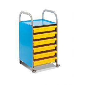 Carrello Porta Disegni A3 - Paper Trolley Blu con 10 vaschette A3