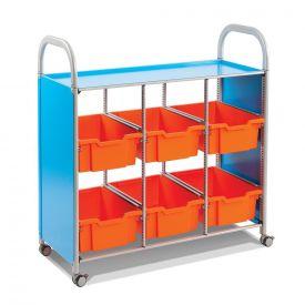 Carrello mobile - 6 vassoi medi ad ampio spazio