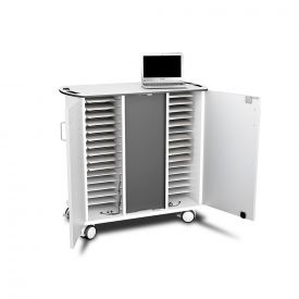Carrello mobile per ricarica con 32 Lenovo Chromebook 14e