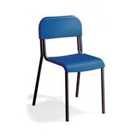 Sedia alunni in polipropilene h 42 cm - Colorata - telaio Verniciato Nero