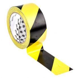 Nastro segna corsie Gomma Nero/ giallo 3M Vinile, 50mm x 33m, spessore 0.13mm 766